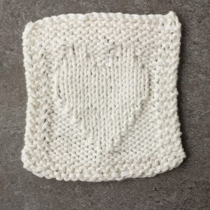 Reverse Stockinette Stitch Heart