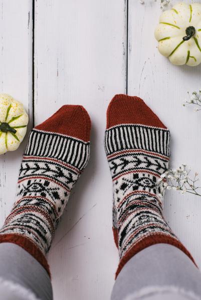 Autumn Aztec Socks I Like Knitting