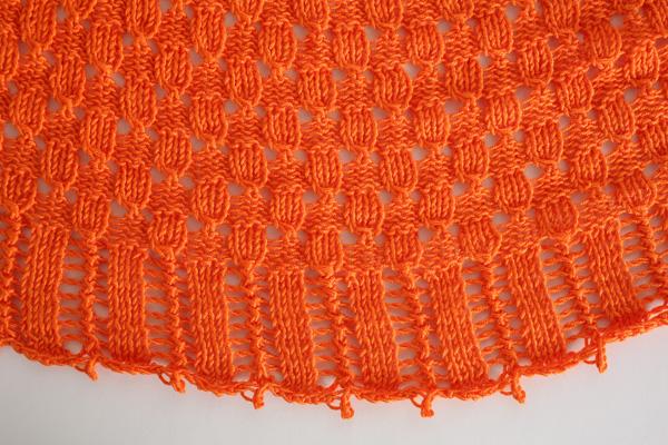 Basketwoven Crescent Shawl I Like Knitting