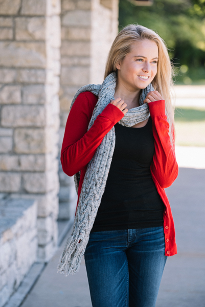 blaire reversible cable scarf i like knitting