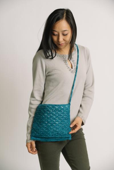 Blue Echeveria Shoulder Bag