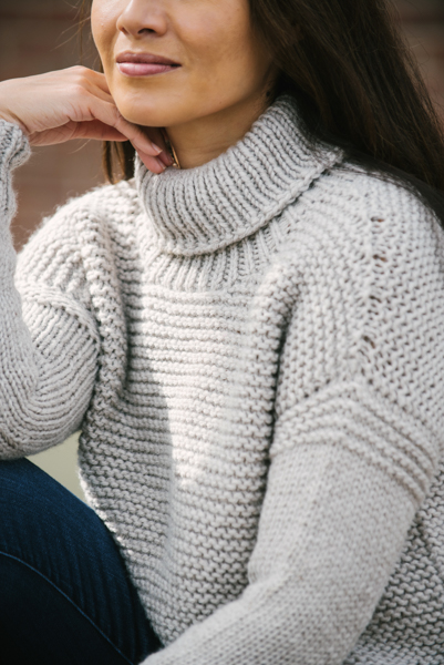 chamomile pullover sleeve detail
