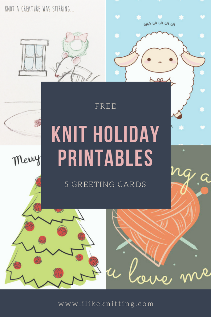 photo relating to Happy Holidays Printable Card known as Xmas! Totally free Printable Knitting Greeting Playing cards - I Including