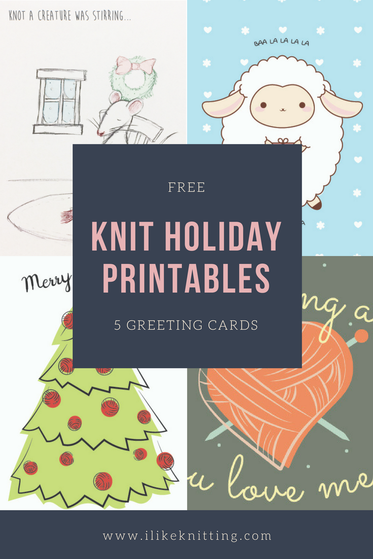 Christmas free printable knitting greeting cards i like knitting time to knit warm and cozy things for yourself and for the ones you love if you find yourself knitting things for your knitting friends and solutioingenieria Gallery
