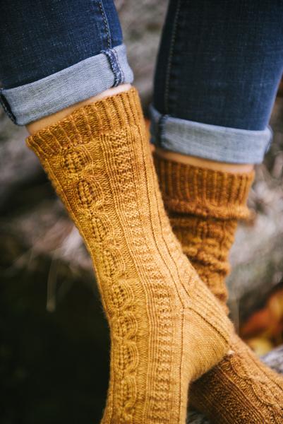 Fireside Glow Sock detail