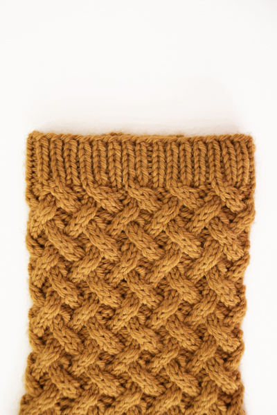 lattice boot cuff detail