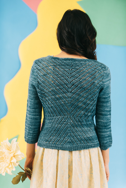 Blue Meadow Cardigan back