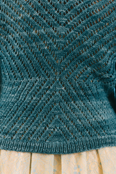 Blue Meadow Cardigan close-up