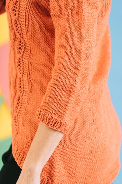 Tangerine Zest Pullover side view