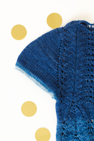 Knit's a Party Top sleeve