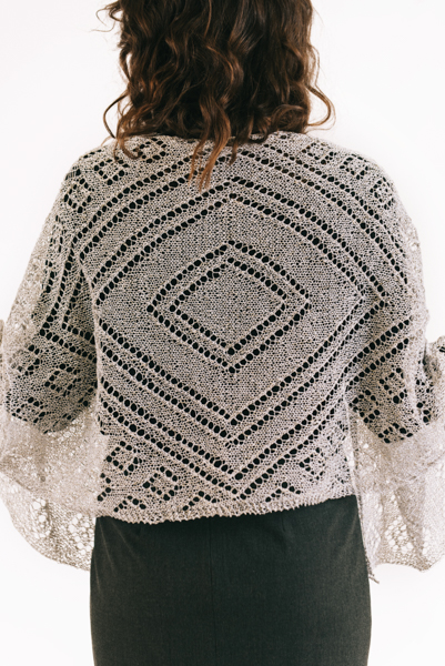 Diamond Shawl back