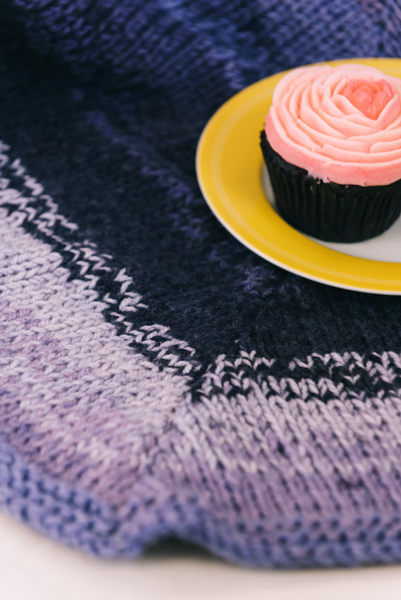 Cupcake Party Afghan close-up
