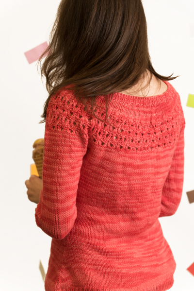 Summer Sweetheart Sweater back