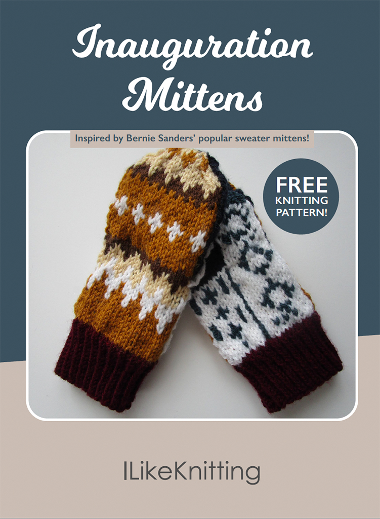 Make your own Inauguration Mittens with our FREE pattern you can download right now