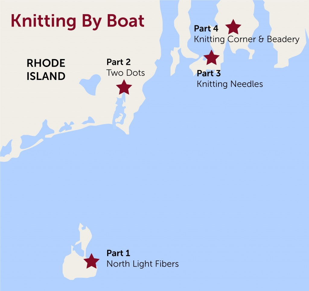 Knitting by boat map