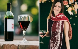 Merlot and Wine Wave Scarf