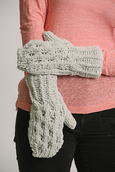 Mika Honeycomb Chenille Mitts