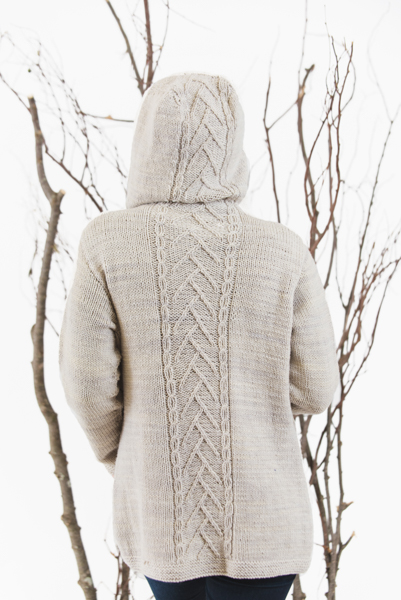 Misty Horizon Cardigan hoodie knitting pattern