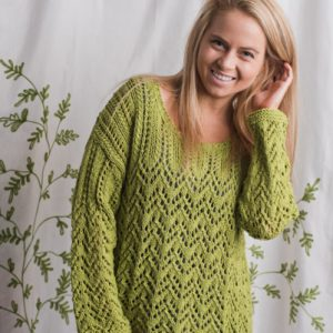 8f34c33283be An oversized sweater in a lace pattern is just right for a boho-chic look!  Named after Parodia cacti which has blooming yellow flowers