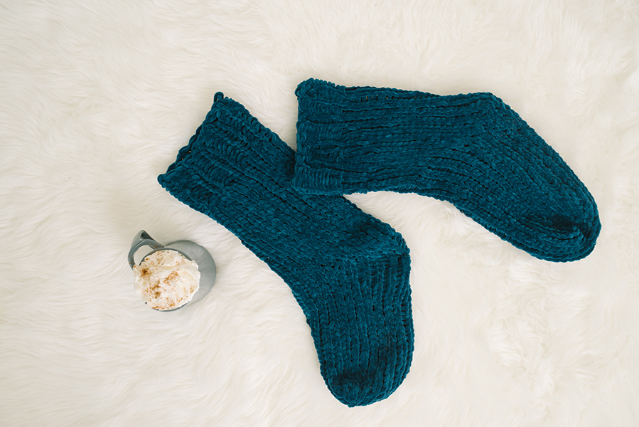 Sami Chenille Slipper Socks
