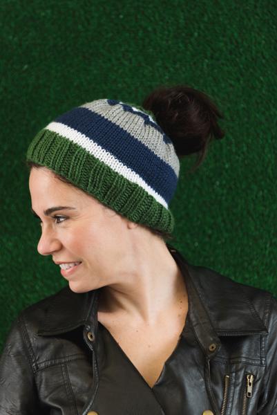 07fe1b54c53 Tailgating Messy Bun Hat - I Like Knitting