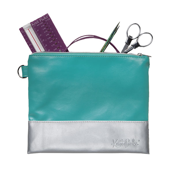 Teal-Silver-Pouch