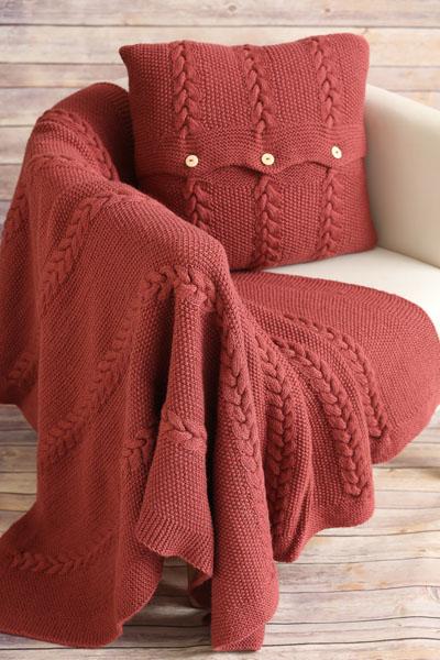 winter rose blanket and pillow set i like knitting