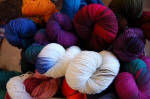 basket bursting with color