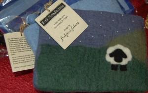 felted little sheep bag