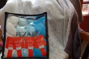 feza baby gradient blanket blue