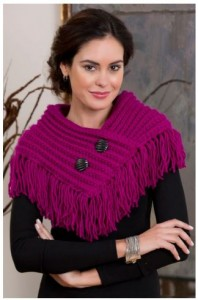 Knit Fringe Cowl