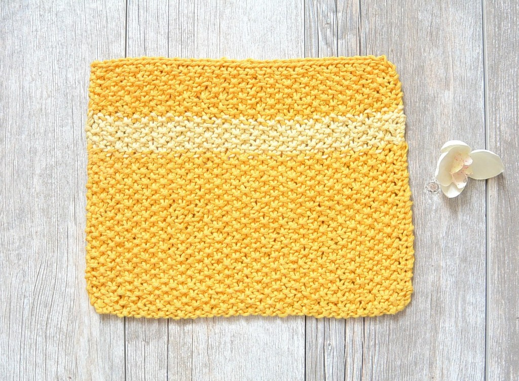 How To Knit a Sunshine Dishcloth - I Like Knitting
